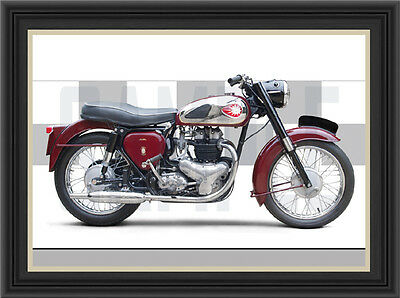 Bsa A7 Motorcycle Print / Poster