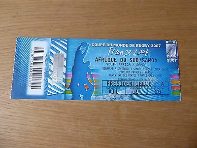 2007 Rugby World Cup tickets South Africa vs Samoa, USA and Tonga with stubs