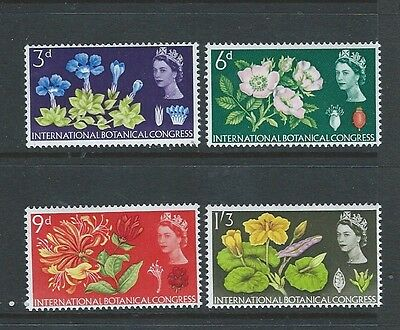 1964 Gb Qeii Commemorative - Botanical Congress Mnh Set