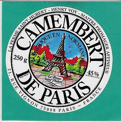 F767 Fromage Camembert  Paris Tour Eiffel La Ferme De Saint Hubert Henry Voy
