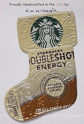 Stocking Handmade Christmas Ornament Recycled Aluminum Metal S Coffee Energy Can