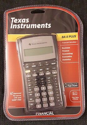 Texas Instruments TI BA II Plus Financial Calculator (New, Sealed)