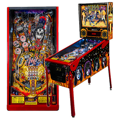 NEW IN BOX stern kiss limited edition pinball