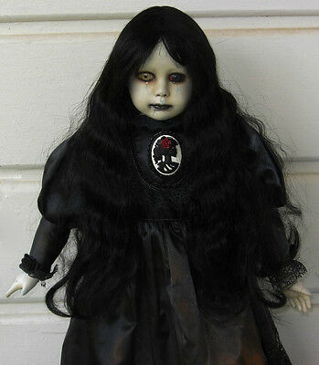 "Creepy Horror Gothic Scary Ooak 22"" Art Zombie Doll"