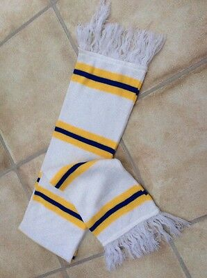 Leeds  Bar Scarf - white/yellow/blue - NEW