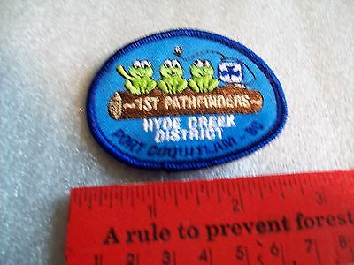 Canadian Girl Guides  Badge/Patch 1st Pathfindres Hyde Creek district