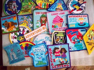 Canadian Girl Guides  Badge/Patch 20 assorted Badges listing c