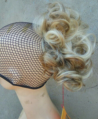 h16-613# mix short curly Tiny  claw Clip Ponytail Hair Pieces Wig