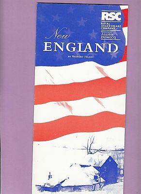 1994  The Pit Theatre Programme - NEW ENGLAND - ANGELA THORNE - DUNCAN BELL