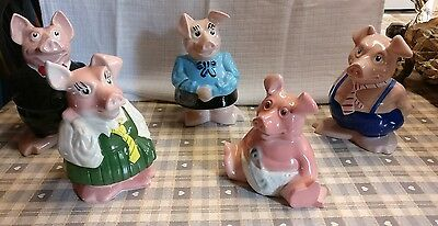 Full set of Natwest Pigs (5 in set) perfect condition