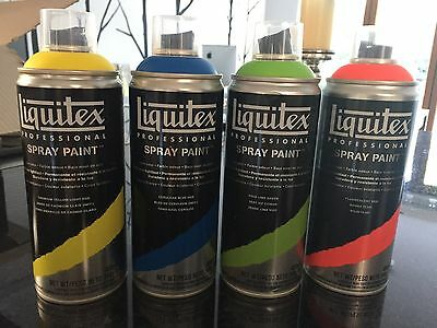 HALF PRICE New LIQUITEX PROFESSIONAL Spray Paint 400ml - bundle of 4 x colours