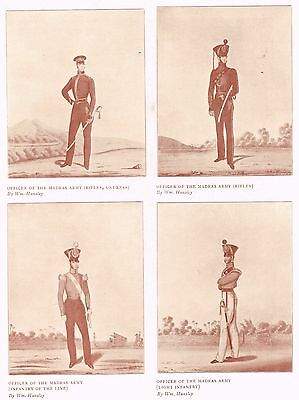 Officers Of The Madras Army Rifles & Infantry 1909 Antique Military Print