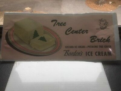 Borden Ice Cream Milk Dairy Advertising Poster Litho Sign Pistachio Tree Center