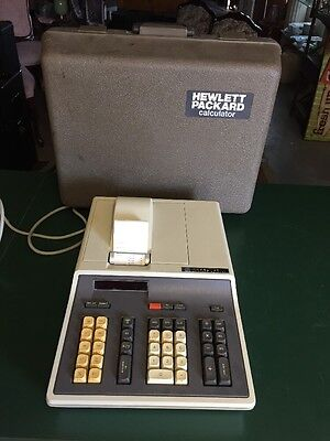 HP Model 46 Calculator, Hewlett Packard HP vintage calculator with hard case
