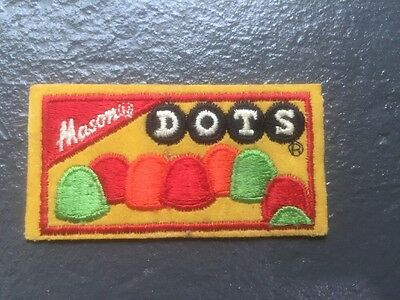 Vintage MASON DOTS candy embroidered patch Dyno USA sew on