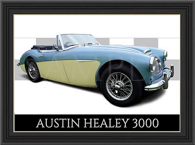 Austin Healey 3000 Car  Poster  Print  Picture  Art New