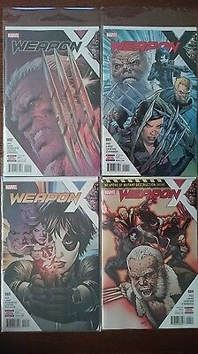 Weapon X (2017) First Four Issues #1, #2, #3, #4 (Marvel) (Regular Covers) (NM)