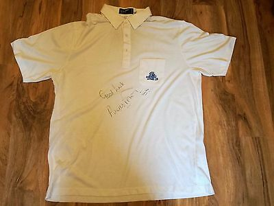 England Angus Fraser Signed Match Worn Cricket Shirt-Awesome!- Look!