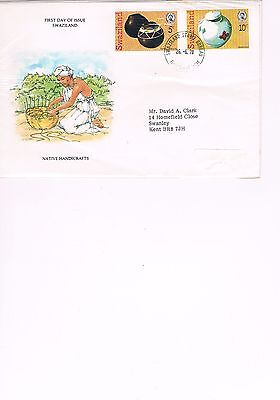 First Day Cover - FDC - Swaziland - Native Handcrafts