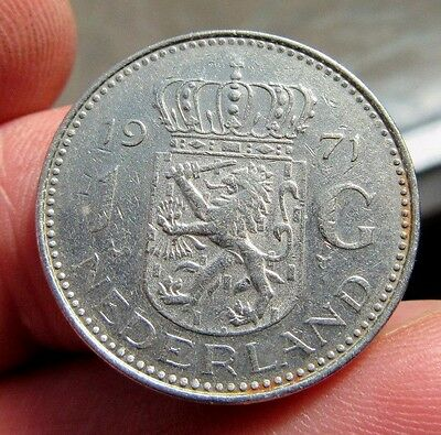 1971 Queen Juliana Netherlands 1 Guilder