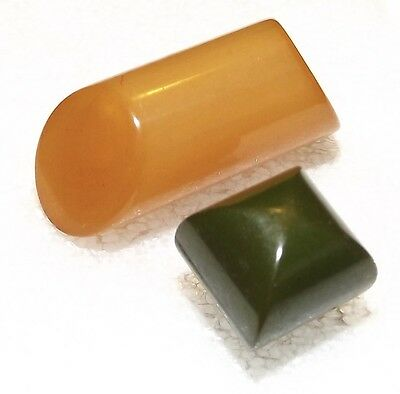 SALE Two Bakelite Buttons #4812