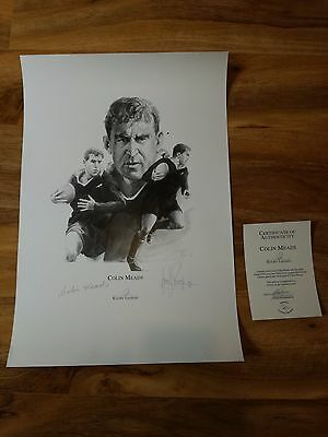 Magnificent Signed New Zealand,all Blacks Rugby Print.rare!-Superb!-Look!!