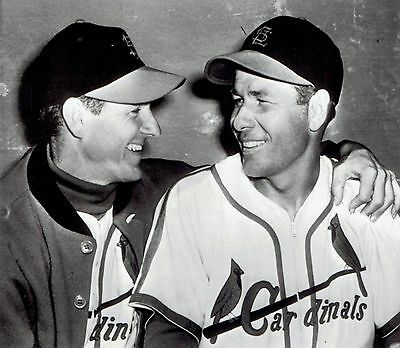 1951 AP Wire Photo St. Louis Cardinals baseball Solly Hemus manager Marty Marion