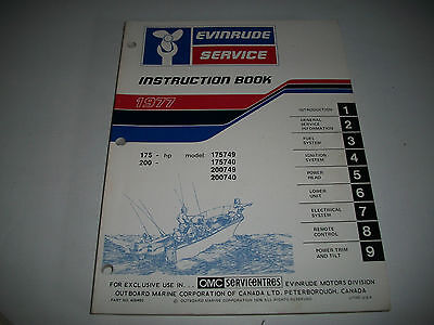 1977 Evinrude ( Johnson)  175-200 Hp Oem Service Shop  Manual Clean