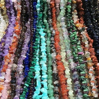4-6&6-8mm Freeform Stone Chip Gemstone For DIY Jewelry Making Spacer Beads 34""