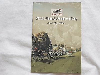 1986 Ascot Racecard - Steel Plate & Sections Day