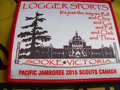 Canadian Scout badge/patch Logger Sports Pacific Jamboree 15