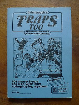 Grimtooth's Traps Too role playing trap design book 1982. Vintage 1st print EX