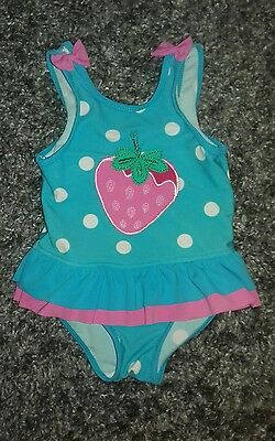 Baby Girls Blue Pink Swimming Holiday Costume Size 12-18 months