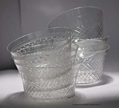 Set of 6 Pall Mall/Lady Hamilton pattern finger bowls, etched/cut