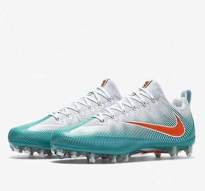 Nike Vapor Untouchable PRO PF Football Cleats Dolphins 839924-317 Mens Size 10.5