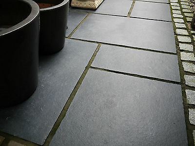 PREMIUM Kotah Black Limestone Natural Indian Stone Patio Paving [sandstone]