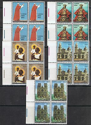 Vatican 495-99 MNH Block of 4 Visit of Pope Paul VI to Asia and Oceania 1970