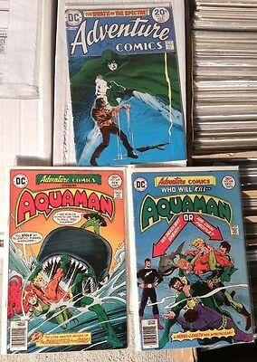 Adventure Comics #431 (FN-) #448 (FN) #449 (FN+) Spectre Aquaman DC Manhunter