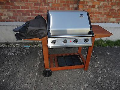 Seattle Stainless Steel Barbecue BBQ 4 Burner Gas Good Condition rrp £380