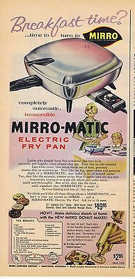 1960 Advertisement - MIRRO-MATIC ELECTRIC FRY PAN & MIRRO DONUT MAKER