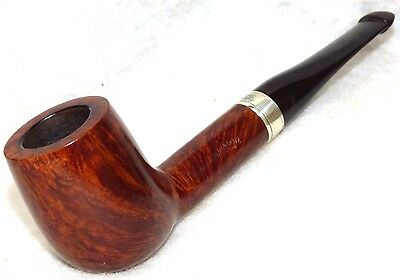 Peterson's Flame Grain, #106 Group 5 Billiard, Orig. Silver Band, Excellent!