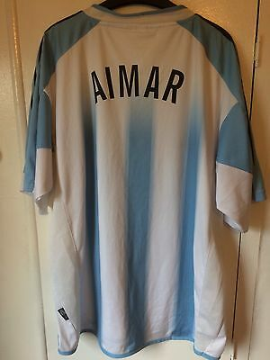 2004/2006 Argentina home football shirt Adidas large men's Aimar rare