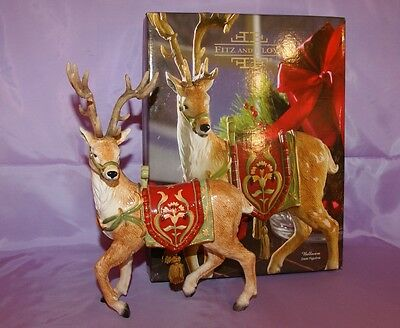Fitz And Floyd Bellacara Deer Figurine Christmas Stag Reindeer Centerpiece MIB