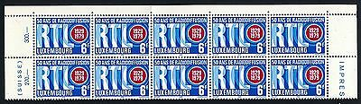 LUXEMBOURG 1979 RTL 50TH ANNIVERSARY OF RADIO BROADCASTING, 10 Stamps, MNH