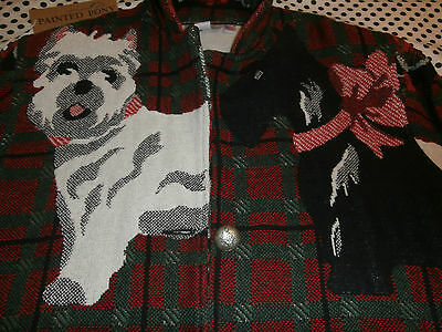 """Scottish Terrier~West Highland Terrier~ """"painted Pony"""" Xl Cotton Jacket Usa"""