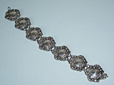 Antique Victorian Art Nouveau Sterling Silver Bracelet