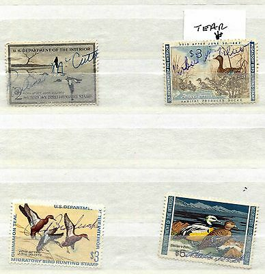 Usa Dept. Of The Interior 1956 - 1973 * 4 Used Migratory Bird Hunting Stamps