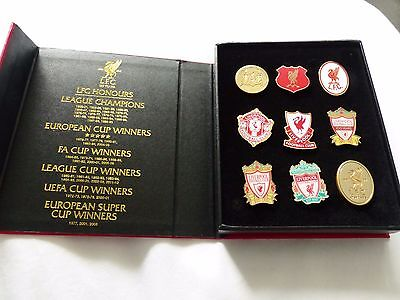 Liverpool '125 Years'  Limited Edition Boxed Badge Set -Brand New