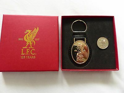Liverpool '125 Years'  Badge And Keyring Boxed Set -Brand New
