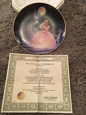 FRANKLIN MINT - The Magic of Cinderella - Limited Edition Collector Plate / UK
